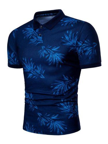 Men's Polo Shirt Fashion Casual Short Sleeve Sports Slim Turn Down Collar