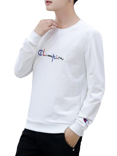Men's Sweatshirt Original Letter Pattern All Match Crew Neck Long Sleeve Sweatshirts