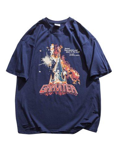 Men's T-Shirt Print Crew Neck Loose Short Sleeve Fashion