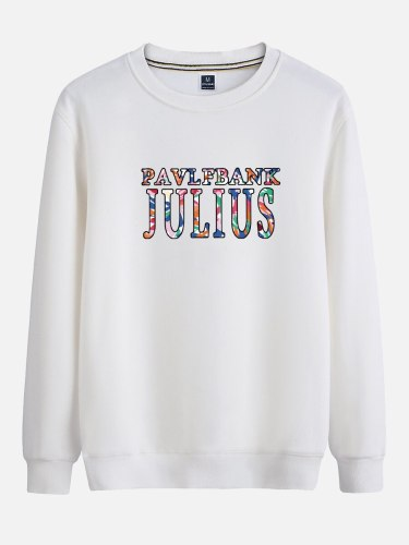 Men's Sweatshirt Letter ed Fashion Sweatshirts Crew Neck Long Sleeve Print