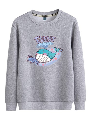 Men's Sweatshirt Plus Size Cartoon Pattern Print Sweatshirts Crew Neck Long Sleeve Regular