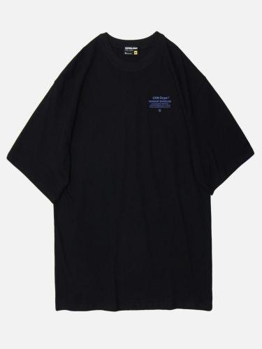 Men's T-Shirt Print Trendy Loose Letter Short Sleeve Crew Neck Fashion