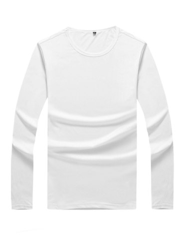 Men's T Shirt Color Soft T Casual Long Sleeve Crew Neck Daily Solid