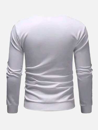 Men's Sweatshirt Fashion Sweatshirts Colorblock Long Sleeve Crew Neck