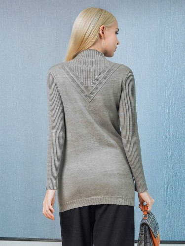 EBECKY Women's Sweater s Ladylike Turtle Neck Slim Long Sleeve