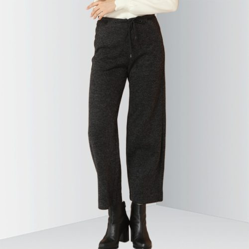E · BECKY Women's Pants Waist Solid Color Drawstring Casual Loose High Waist The various accessories in the picture are for shooting and are not in