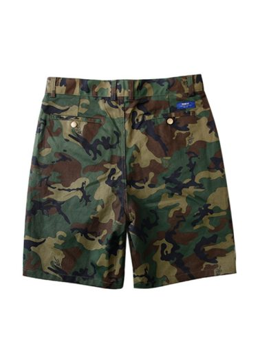 Military Green Leggings Casual Men's Camouflage Loose Mid Waisted