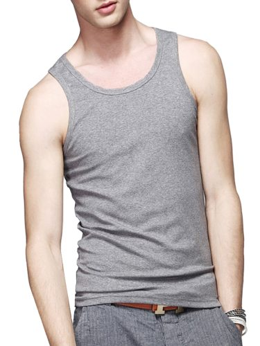 Men's Tanks Thin Sweat Absorption Color Sleeveless Loose Crew Neck Solid Plus Size Fashion