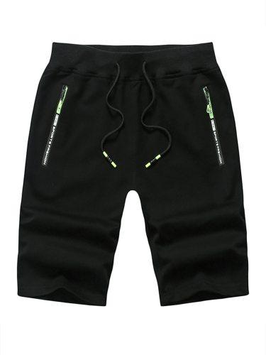 Men's Shorts Drawstring Pocket Casual Short Sports Mid Waisted Drawstring Waist
