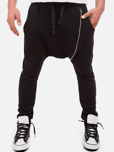 Men's Pants Solid Color Ankle Tied Drawstring Waist Full Length Regular Mid Waisted Casual Skinny