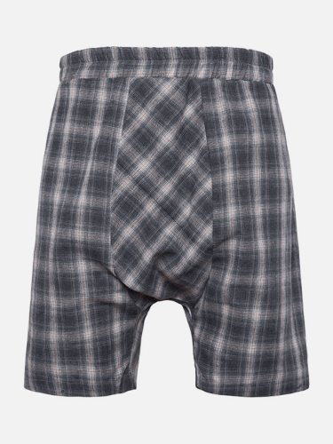Men's Casual Shorts Fashion Loose Short Regular Plaid Going Out Elastic Waist Mid Waisted