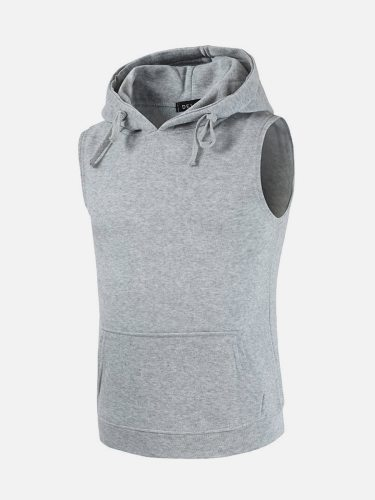 Men's Tank Color Hooded Simple Style Fashion Solid Daily