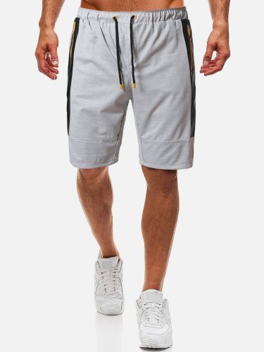 Men's Casual Shorts Striped Colorblock Short Patchwork Drawstring Waist Mid Waisted