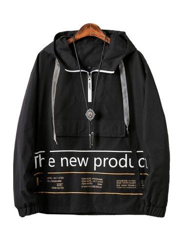 Men's Jacket Hooded Regular Zipper Fashion Long Sleeve Going Out