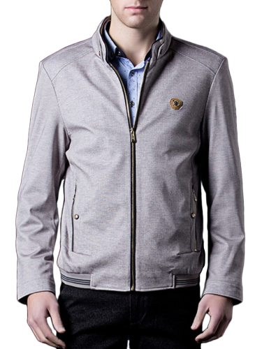 Men's Jacket Color Fashion Stylish Stand Collar Casual Long Sleeve Solid Zipper