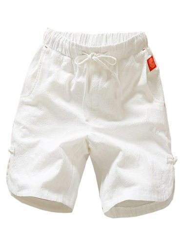 Men's Linen Casual Fashion Plus Size Trendy Comfy Elastic Waist Breathable Mid Waist Shorts