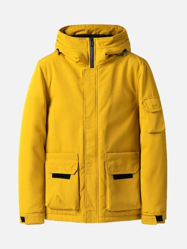 Men's Quilted Coat Pocket Fashion Coats Geometric Going Out comfortable and warm fabric Thicken Plus Size Long Sleeve Zipper Hooded Casual