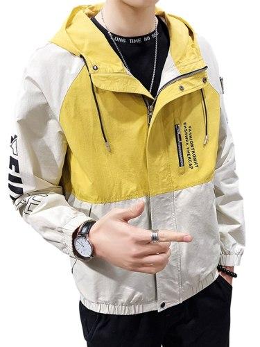 Men's Casual Jacket Pocket Formal Slim Hooded Long Sleeve Zipper