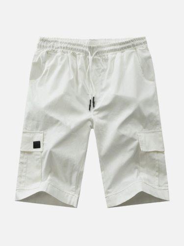 Men's Casual Shorts Waist Drawstring Fashion Short Mid Waisted Going Out Elastic Waist Patchwork Regular