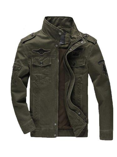 Men's Jacket Zipper All Match Comfy Casual Turn Down Collar Long Sleeve