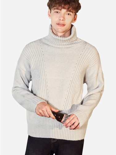 Tonlion Men's Sweater s Cozy School Turtle Neck Casual Long Sleeve Solid