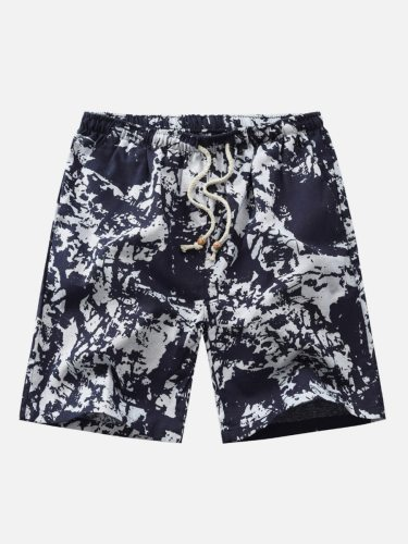 Men's Casual Shorts Fashion Short Elastic Waist Mid Waisted Plus Size Going Out Print