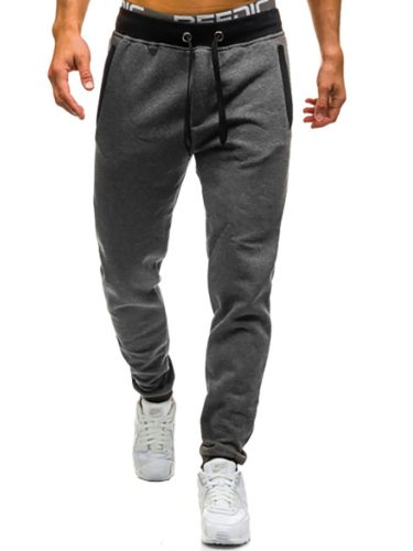 Men's Peg Pants Pocket Mid Waisted Full Length Going Out Ankle-Tied Casual Drawstring Waist