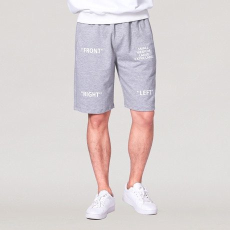 Men's Beach Patchwork Letter Print Waist Drawstring Short Shorts Loose