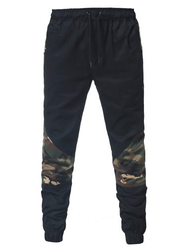 Men's Casual Pants Camouflage Cozy Leisure Breathable Elastic Waist Skinny Slim Plus Size Mid Waisted Fashion Full Length