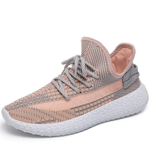 Women's Sports Breathable Fashion Lacing Fiber Mesh Solid Color Youth14-30Age Shoes Sports & Leisure 2 cm Preppy Light Composite Sole Flat0-3cm