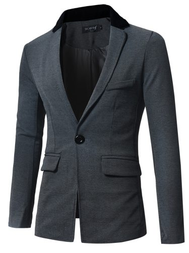 Men's Blazer Casual All Match Chic All Match Fashion Notched Solid