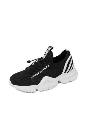 KangLong Women's Sports Shoes Letter Stripe Pattern Comfortable Simple Sport Shoes/Sneakers Mesh Casual Shoes 4 cm Daily Medium35-6CM Warm Lacing EVA