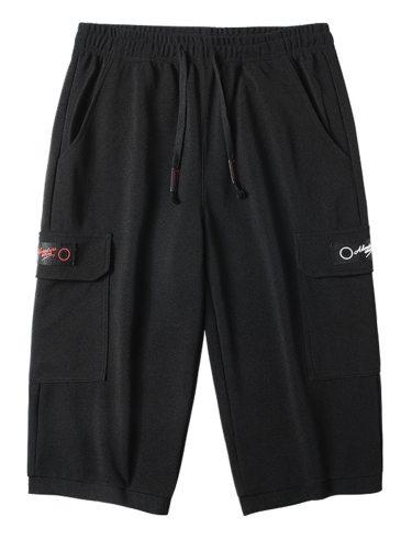 Men's Casual Shorts Pockets Design Drawstring Waist Mid Waisted