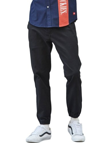 Dickies Men's Pants Fashion Solid Color Patchwork Pocket Chic Mid Waisted Elastic Waist Ankle-Tied Full Length Casual