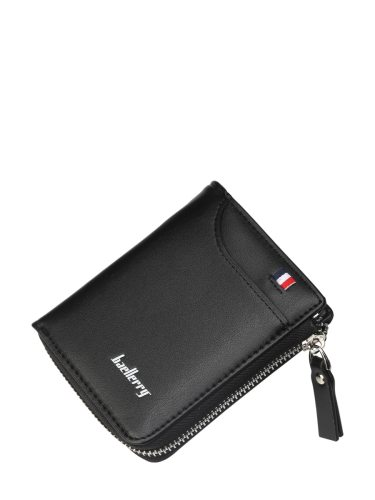 Baellerry Men's Wallet Pu Short Section Zipper Solid Color Men's