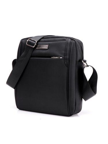 Men's Crossbody Bag High Quality All Match Solid Briefcase Messenger Bag Zipper Interior Zipper Pocket