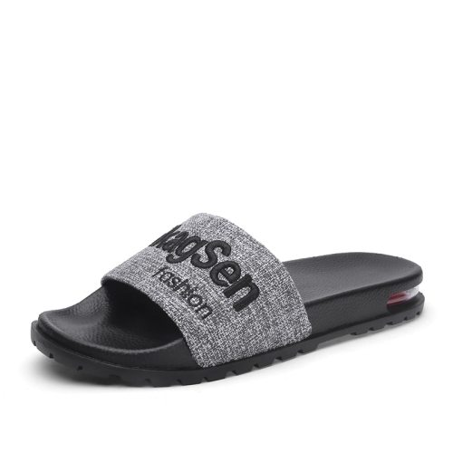 Men's Open Toe Slippers Letter Pattern Anti-skidding All Match Thicken Platform Wearable Casual