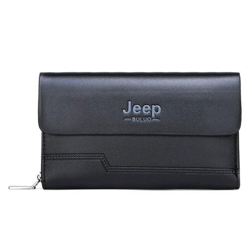 Men's Wallet Casual Flip Multi Slots Machine Sewing Thread Briefcase Zipper 3 Fold