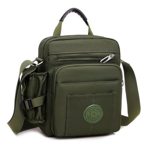 Men's Crossbody Bag Fashion Color Closure Solid Messenger Bag Casual Interior Slot Pocket Zipper