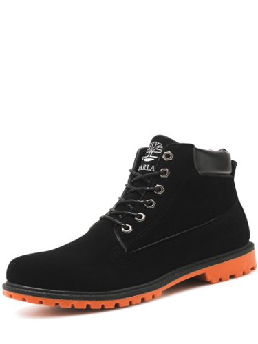 Men's Martin Boots Retro High Quality -up Anti-skidding High Top Lacing Flat Work Boots Casual