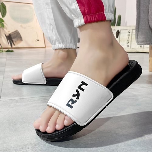 Men's Open Toe Slippers Casual Lightweight Letter Pattern Breathable Fashion Flat Wearable Sports Function: breathableStyle: youth trendUpper PU
