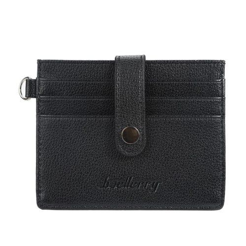 Baellerry Men's Wallet Versatile Snap Simple Short Machine Sewing Thread Hasp 2 Fold Sports