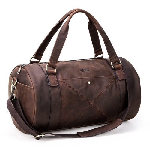 Men's Travel Bag Large Capacity Vintage Letter bags Interior Slot Pocket Casual Zipper