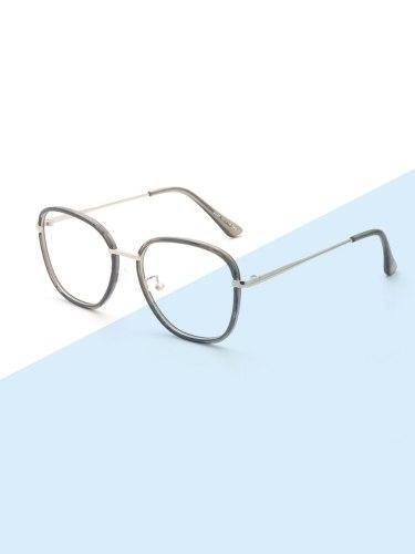 Women's Chic Stylish Big Frame Casual All Match Accessory Eyeglasses Wayfarer Fashion