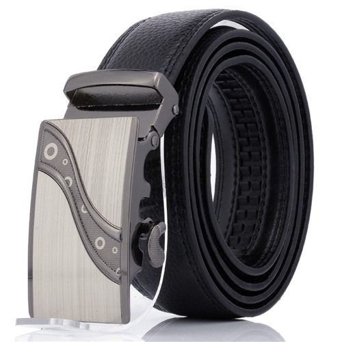 Men's Belt Automatic Buckle All Match Business Solid Color Accessory Men's Belts Fashion Metal Decoration