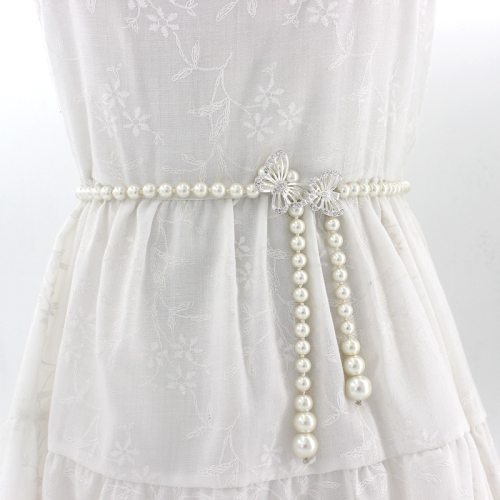 Women's Waist Chain Fashion Imitation Pearl Butterfly Elegant Floral Thin<2cm Others Accessory Pearls Basic One-loop Sweet chains