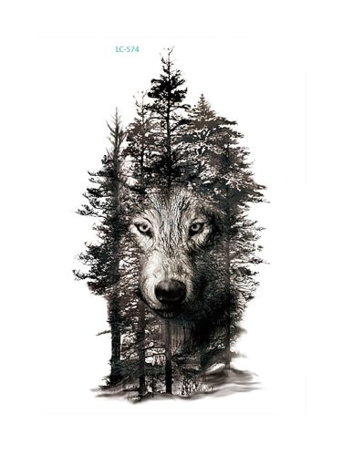 Tattoo Sticker Fashion Cool Wolf Pattern Design Men's Chic Accessory Show different yourselfEvery day is specialHow To Use1 Clean and dry the skin of
