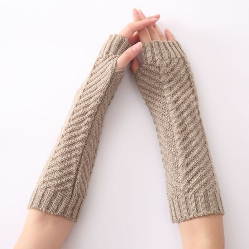 Women's Warm Gloves Solid Colorable Knitted Hollow out Pastoral Hand wash Tassel Fashion