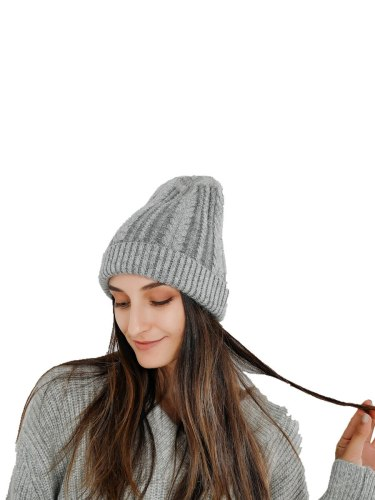Women's Beanie Knitted Vogue Casual Comfy Warm Hat Accessories Wipe clean Winter Drape Solid