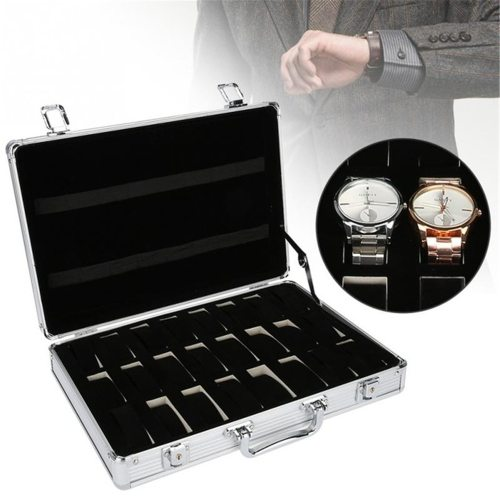 24Grid Slots Aluminium Watch Boxes Display Case Jewelry Collection Casket Storage Wristwatch providing best protection for you watchTop class Others
